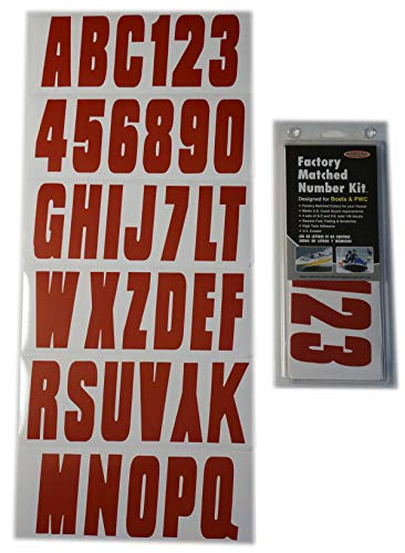 Hardline Products Series 350 Factory Matched 3-Inch Boat & PWC Registration Number Kit, Solid - 3 Boat Inch Letter