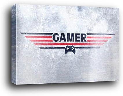 Gaming Cartel Montado En Madera - Gamer (91 x 61cm): Amazon ...