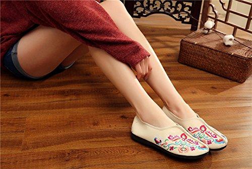 Flattie Zapatos de Aire al de de Comodidad Las Mujeres Mocasines la aer Zapatos Lona Libre Chinos Planos Interiores Casuales y la BrqBwFU