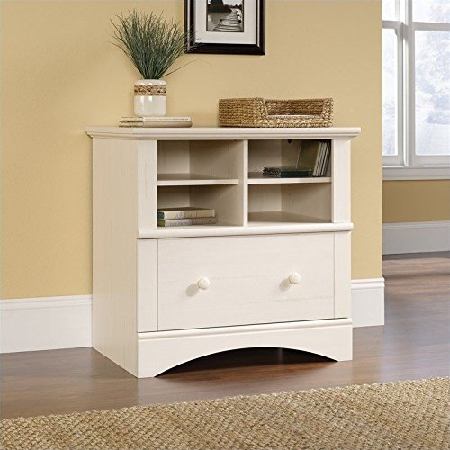 Sauder Harbor View Lateral File, Antiqued (Sauder Harbor View Antiqued White)