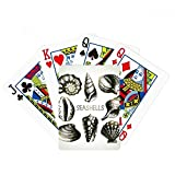 Marine Life Black Scallop Illustration Poker Playing Card Tabletop Board Game Gift