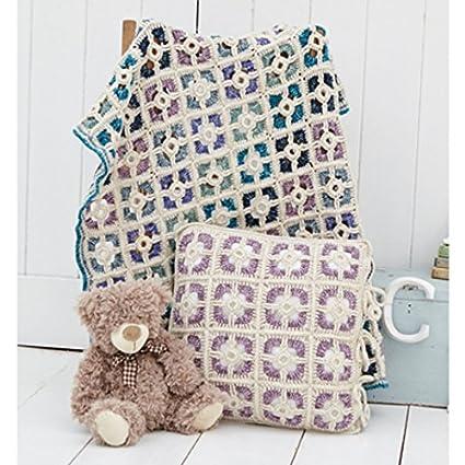 Stylecraft casa cojín y manta Batik CROCHET patrón 9300 DK ...