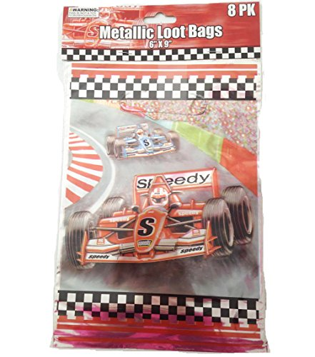 28-Piece Race Car Theme Kids Birthday Party Decoration Pack (Nascar Decorations)