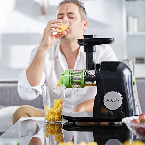 Aicok Juicer Slow Masticating Juicer Extractor, Cold Press ...