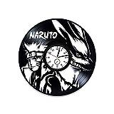 Kovides Naruto Clock Naruto Vinyl Record Wall Clock Naruto Vinyl Clock Gift For Gamer Naruto Wall...