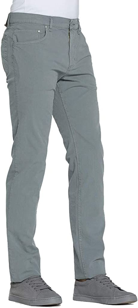 Tinta Unita Pantalone per Uomo Tessuto in Tela Carrera Jeans