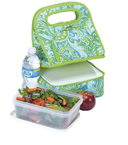 sulated Lunch Tote, Green Paisley (Savoy Tote)