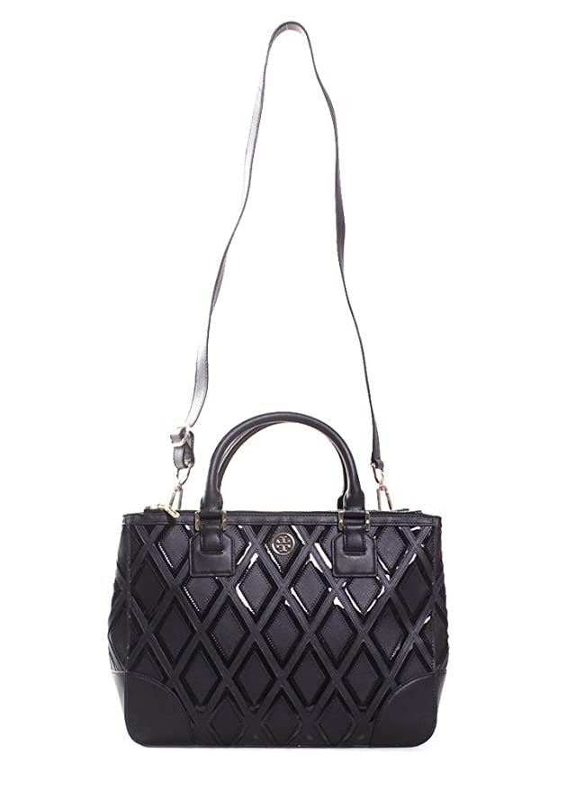 abf562e87c5 Amazon.com  Tory Burch Robinson Patchwork Double Zip Tote 31139784  Clothing
