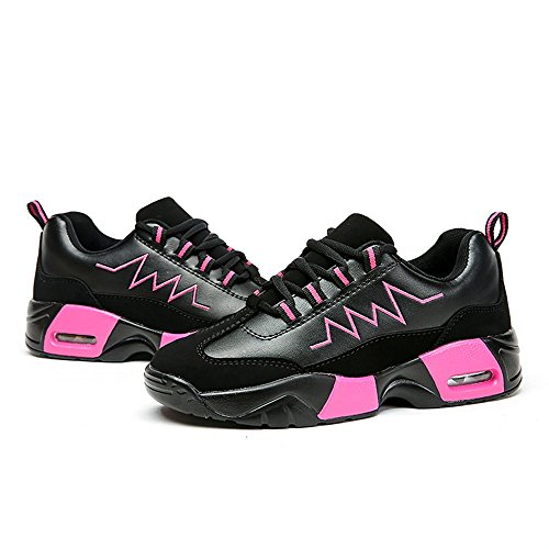 Shufang shoes Pink Black Mocassini Uomo OO4rY