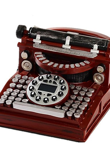 BO moda novedades cid máquina de escribir con cable, diseño de teléfono antiguo