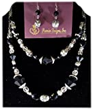 Antiqued Silver Plated Necklace and Matching Earrings