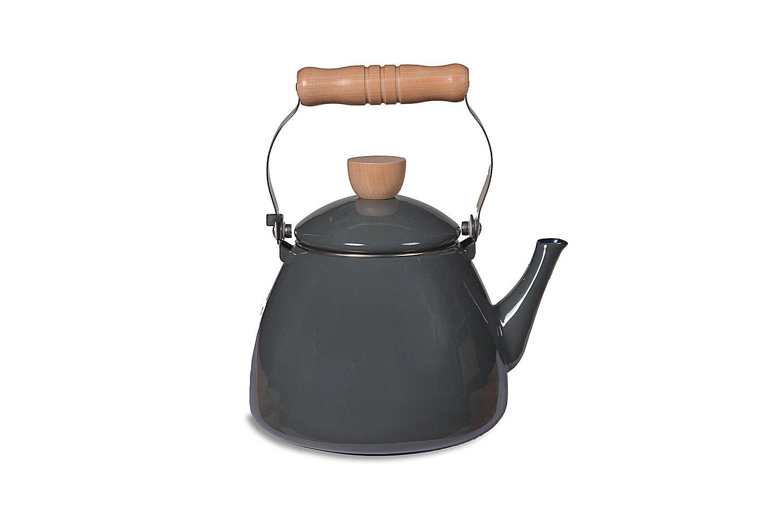 Garden Trading Enamel Stove Kettle - Charcoal