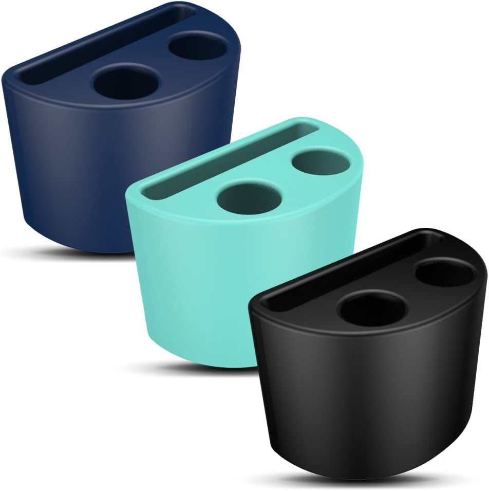 AWINNER Holder Compatible With Airpods Pro,Premium Quality Shock Resistant Portable Anti-Lost Silicone Watch Band Holder Compatible for AirPods 1 / AirPods 2 / Airpods Pro Accessorie (Black,Blue,Cyan)