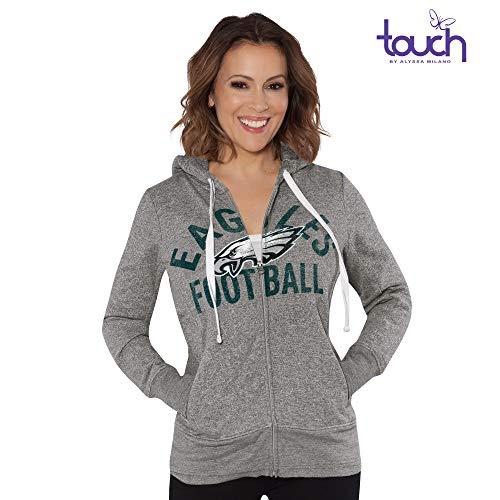 Philadelphia Eagles Womens Zip - G-III Sports Philadelphia Eagles Women's Post Season Full Zip Hooded Sweatshirt XX-Large