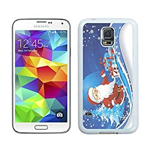 Personalized Merry Christmas White Samsung Galaxy S5 Case 36