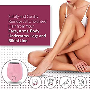 Women's Electric Razor Shaver Trimmer - For Wet & Dry Hair - Use on Face, Legs and Bikini Area