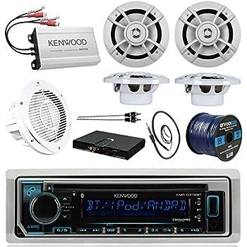 amazon com boat sound system package kenwood marine bluetooth rh amazon com