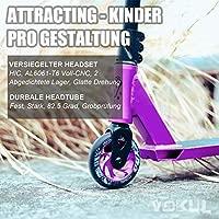 Vokul BZIT K1 Pro Stunt - Patinete con Ruedas de Poliuretano de 100 mm, para Adultos y niños