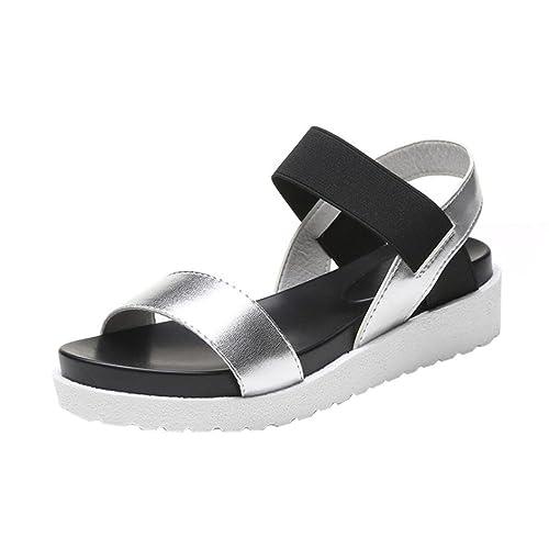 Calzado de Mujer, Amlaiworld Zapatos Planos de Cuero de Las Sandalias de los Zapatos (