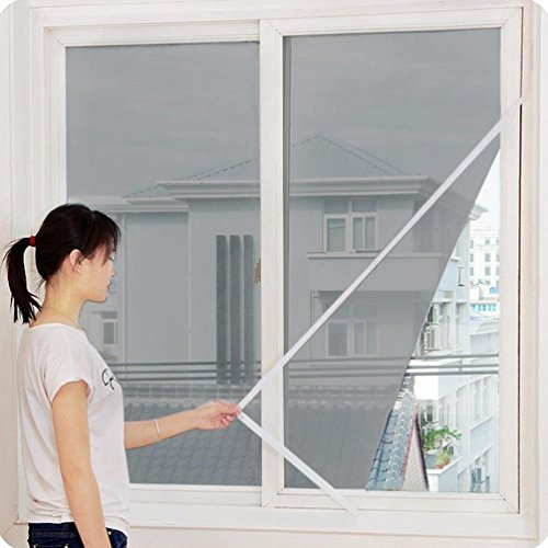 Iusun Window Screens, Indoor Anti Insect Fly Bug Mosquito Window Screen Mesh Net Door Window Screen Curtain (Grey)
