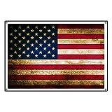 CafePress Vintage Fade American Flag - Vinyl Banner, 44''x30'' Hanging Sign, Indoor/Outdoor