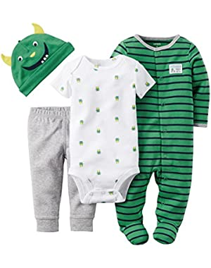 Carter's Green Monster 4 Piece Sleep & Play Set 3 Months