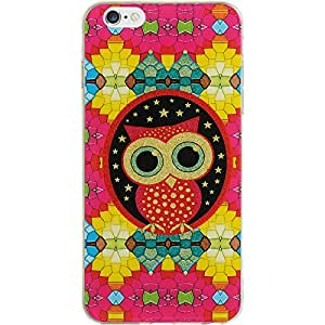 Dream Wireless iPhone 6 TPU ID Case with Glitter - Retail Packaging - Colorful Owl