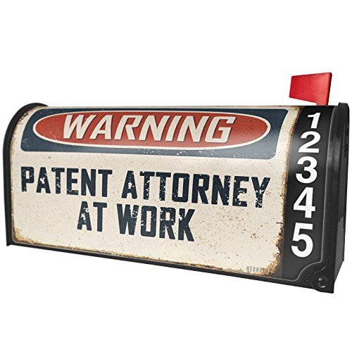 Purchase low price NEONBLOND Warning Patent Attorney Work Vintage Fun Job Sign Magnetic Mailbox Cover Custom Numbers