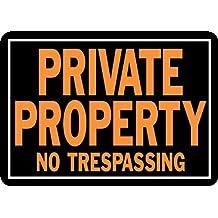 "Private Property No Trespassing Sign, Aluminum 9.25""H x 14""W (848)"