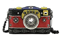 Jeweled Beaded Camera Theme Handbag