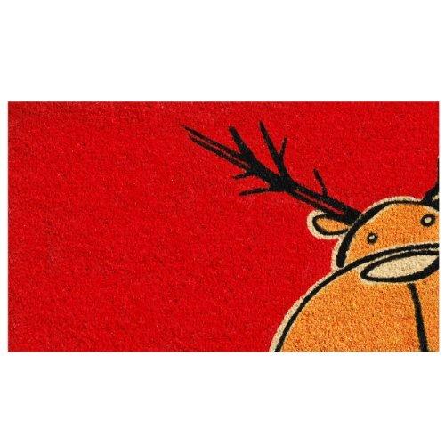 Home & More 120971729 Christmas Moose Doormat, 17 x 29 x 0.60, Multicolor