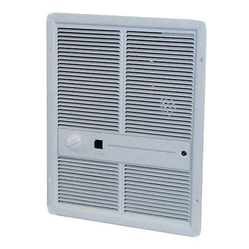 TPI G3315RPW 3310 Series Fan Forced Wall Heater without Summer Fan Switch, Single Phase, 3000W, 277V 1PH 10.8A, White - 277v Fan Forced Wall