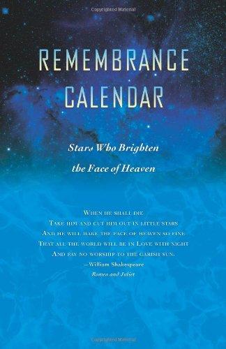Remembrance Calendar - Stars Who Brighten The Face of Heaven pdf