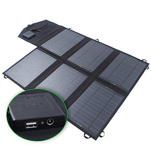SUNKINGDOM 39W Solar Ladegerät (18 V DC bis 5V USB Dual Ausgang Ladegerät) für Laptop, Akku, Netz Bank, iPad, iPhone und mehr