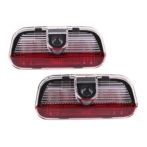 ORASK 2pcs LED Symbol Welcome Light Door Logo Projector Lamp for Volkswagen, Ground Ghost Shadow Lights Door Warning Light for VW Passat B6 B7 CC Golf 6 7 MK5 MK6 Tiguan Scirocco 5W by ORASK (Image #9)