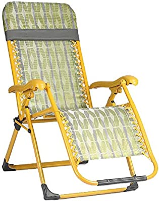 Sillón reclinable Amarillo Plegable para jardín o terraza, sin Necesidad de Instalar: Amazon.es: Hogar