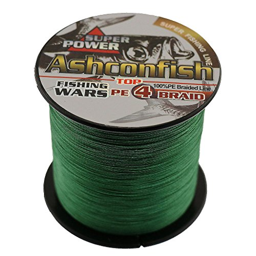 25 Lb Line (Ashconfish Super Strong Braided Fishing Line-4 Strands Fishing Wire 500M/546Yards 25LB Moss Green)