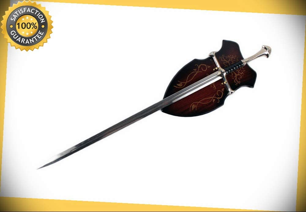 40'' Medieval Crusader Chivalry Anduril Two-Handed Great Sword With Wood Plaque perfect for cosplay outdoor camping 51p489BmC1LSL1000_