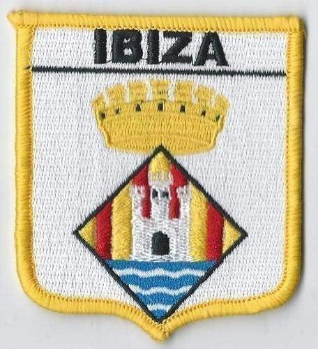 Ibiza Islas Baleares español de la bandera de España insignia con mensaje en inglés * producto exclusivo de parche emblems-gifts*: Amazon.es: Hogar