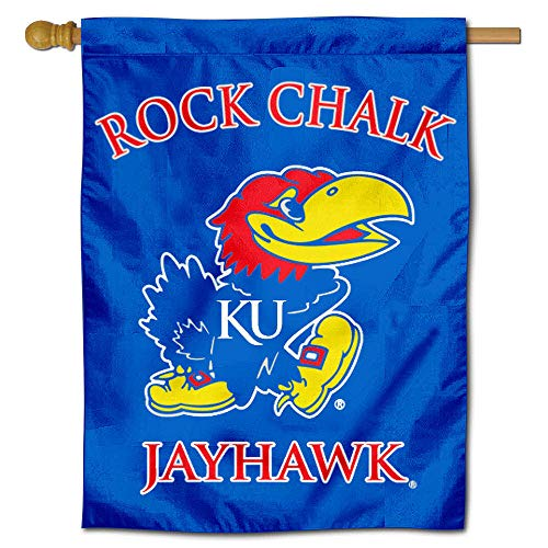 College Flags and Banners Co. Kansas Jayhawks Banner House Flag ()