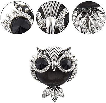 Daaimi Cute Strass Chouette Broche /Él/égante Brooch Pin Chic Corsage Epingle D/écoration Bijoux pour Femme Lady V/êtement Accessoires