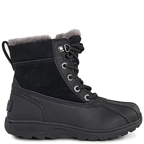 UGG Kids K Leggero Lace-up Boot, Black, 6 M US Big Kid by UGG