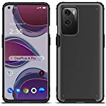SQUIF Shock Proof Hard TPU, Plastic Bumper Back Case Cover for OnePlus 9 (Black)