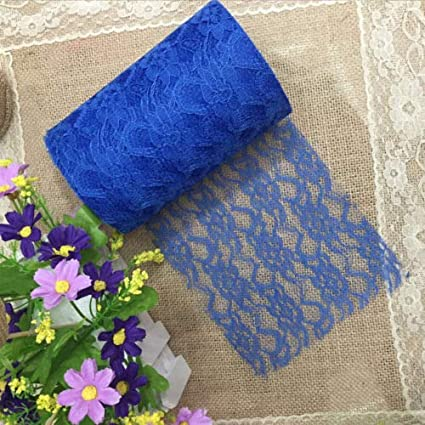 1Roll 22M Vintage Lace Floral Lace Wedding DIY Table Runner Sash Ties 11 Colors