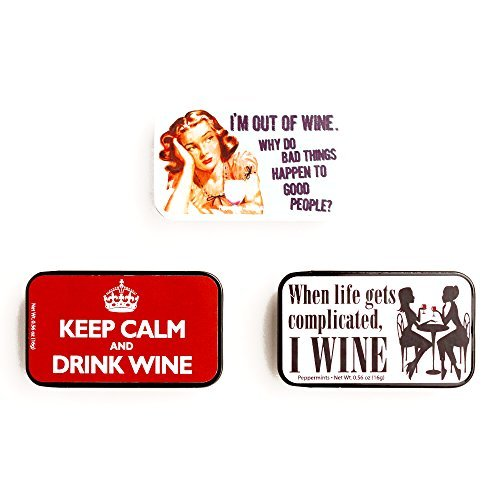 Amusemints Wine Mint Tins .56 oz each (1 Item Per Order) ()