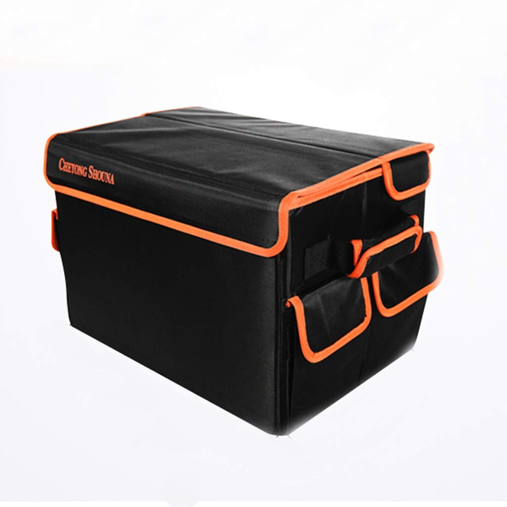 Black 503030cm Storage box Storage Box Car Home Travel Storage Box Tail Box Trunk Storage Box Folding Multi-Function Supplies Car Finishing Storage Box Gift (color   Black, Size   50  30  30cm)