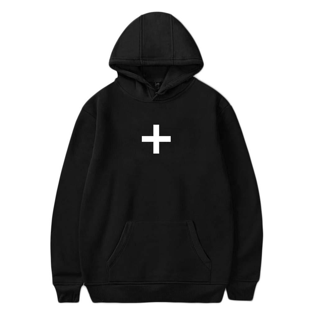 ✔ Hypothesis_X ☎ Women's Autumn Winter Long Sleeve Pullover Prints Hoodies Hooded Sweatshirt Sweater Tops Black by ✔ Hypothesis_X ☎ Top