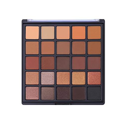 Allwon Professional Eyeshadow Palette Makeup Copper Spice Matte Shimmer Warm Neutral Eye Shadows, 25 Colors (1.41 Ounce)