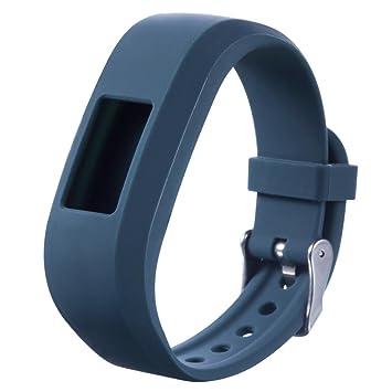 Para Mujer Garmin VivoFit Jr Junior, DoraMe Reloj de pulsera de silicona (Azul)