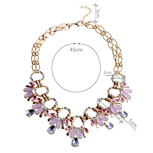 GBJewelry Big White Zirconia Necklace for Party (45Cm+Extended - Women Hottest Arabic